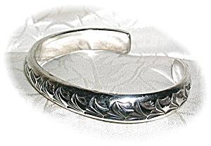 Heavy Handmade  Sterling Silver Cuff Bracelet (Image1)
