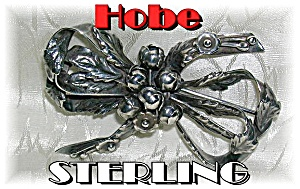Beautiful HOBE Sterling Silver Bow Brooch (Image1)