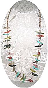 28 Inch Long Double Row  Heishi Bead Necklace (Image1)
