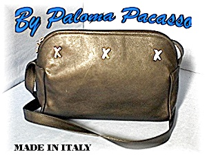 Black Leather Paloma Picasso Bag