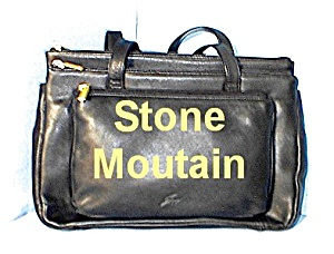 Black Leather STONE MOUNTAIN Bag (Image1)