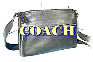 Black Leather COACH Over The Shoulder Bag (Image1)