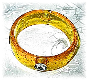 Yellow Gold Sparkly Bangle Bracelet (Image1)
