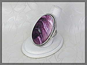 Ring Sterling Silver Purple Spiny Oyster Joe Tenorio