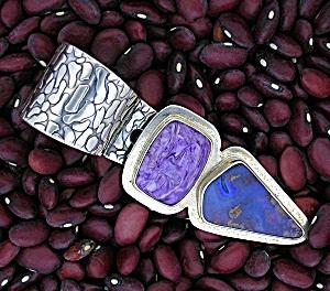 Boulder Opal Charolite Sterling Silver Richard Lindsay (Image1)