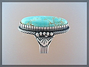 Carico Lake Turquoise D Livingston Sterling Silver Ring