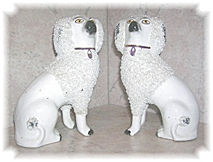 PAIR OLD STAFFORDSHIRE DOGS (Image1)