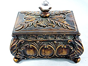 Vintage Jewel topped Jewelry Box  (Image1)