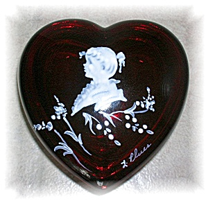 Westmoreland Heart Shaped Trinket Box