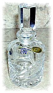 HAND CUT CZECH CRYSTAL BOTTLE WITH STOPPER (Image1)