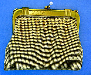 Whiting and Davis Gold Evening Purse (Image1)