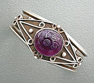 Sterling Silver Amethyst Rose Bracelet AG 75 (Image1)