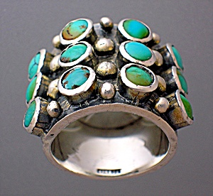 Turquoise Sterling Silver Ring 9 Turqauoise