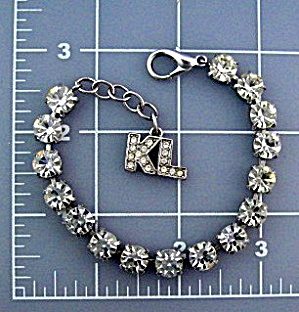 Kenneth  Lane Crystal Silver Tennis Bracelet (Image1)