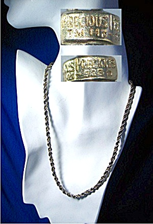 Necklace 14K Gold Sterling Silver Rope Chain Designer (Image1)