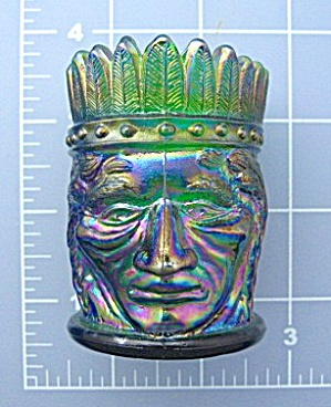 Carnival Glass Native Ameerican Toothpick Joe St Clair