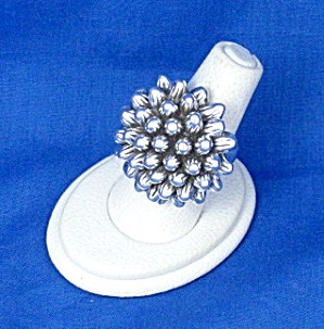 Sterling Silver Large Flower Ring Thailand