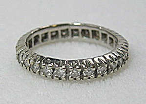 Ring 14K White Gold Diamond Wedding Eternity  (Image1)