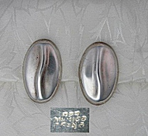 Sterling Silver Taxco Mexico Clip Earrings (Image1)