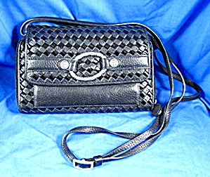 Brighton Black Checkbook Purse Wallet Bag