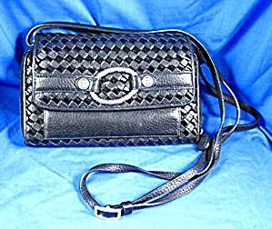 Brighton Black Checkbook Purse Wallet Bag (Image1)