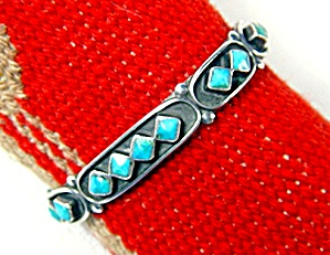 Silver Turquoise Cuff Bracelet