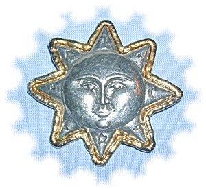 FAB AND SIGNED JJ - SUNFACE BROOCH (Image1)