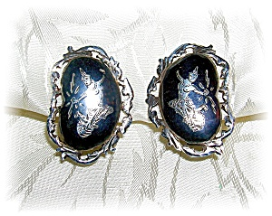 STERLING CLIP ON EARRINGS - SIAM (Image1)
