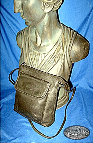 Fossil handbag, purse in black leather (Image1)