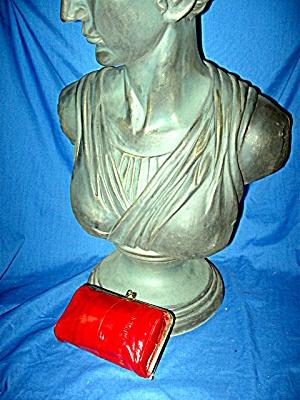 EEL Skin Make up Bag Burgandy Red (Image1)