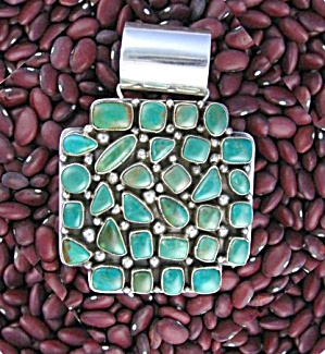 Native American Turquoise Sterling Silver Ella Peter