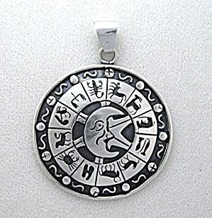 Alfred Villasana Taxco Mexico Zodiac Pendant Sterling S (Image1)