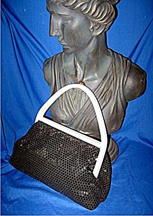 Lucite Plastic Black Sequins Bag (Image1)