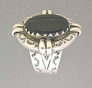 Onyx Sterling Silver American Indian Ring