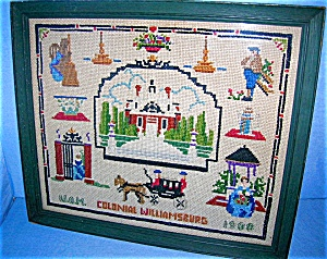 Cross Stitch Picture  Colonial Williamsberg 1938 (Image1)