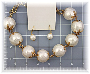 Necklace & Earrings Cotton Ball JOHN WIND Signature (Image1)