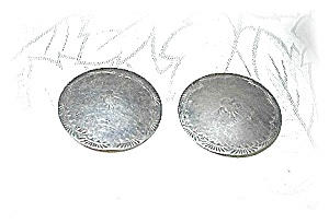 1 Inch Sterling Silver Clip Earrings