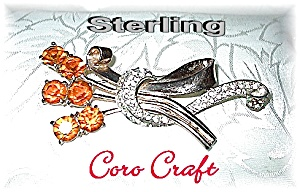 Sterling Silver Rhinestone CORO CRAFT Brooch (Image1)