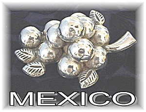 Fabulous & Huge Mexican Grape Brooch (Image1)