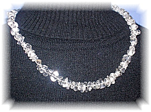 WHITE GENUINE CRYSTAL NUGGET NECKLACE...... (Image1)