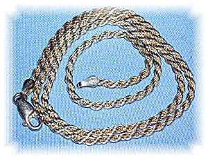 Necklace Sterling Silver Rope Italy
