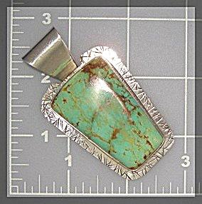 David Troutman & Gundi Gaspeite Sterling Silver Pendant (Image1)