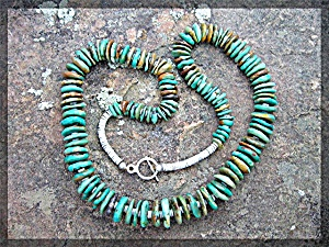 Native American Turquoise Sterling Silver Santo Domingo
