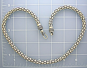 Sterling Silver 20 Inch Necklace Hook Clasp (Image1)