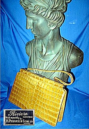 Vintage moc croc Riviera Handbag (Image1)