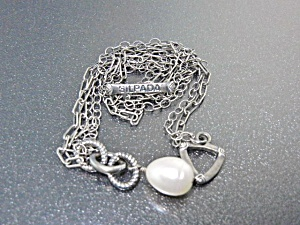 Silpada Sterling Silver Freshwater Necklace Pearl Penda