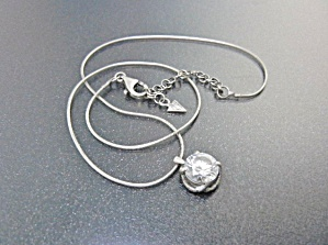 Silpada Sterling Silver Cubic Zirconia Necklace