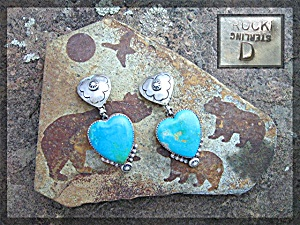 Rocki Gorman Turquoise Sterling Heart Clips Usa
