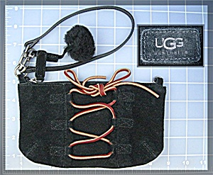 Bag Ugg Black Suede With Leather Small