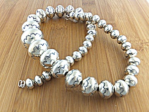 Native American Sterling Silver Beads Larry Pinto (Image1)